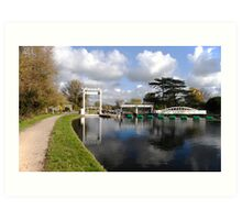Bates lock on River Cam Art Print