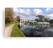 Bates lock on River Cam Metal Print