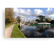Bates lock on River Cam Canvas Print