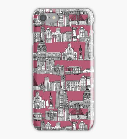 San Francisco toile rose iPhone Case/Skin