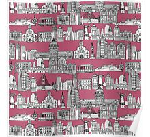 San Francisco toile rose Poster