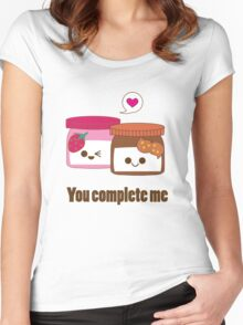 Kawaii Valentines PB&J Women's Fitted Scoop T-Shirt
