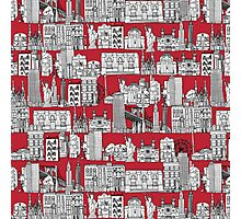 New York toile red Photographic Print