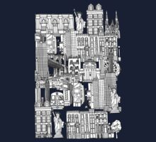New York toile red Kids Clothes