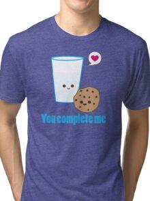 Kawaii Valentines Milk&Cookies Tri-blend T-Shirt