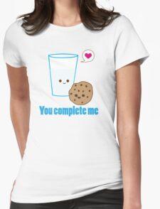 Kawaii Valentines Milk&Cookies Womens Fitted T-Shirt