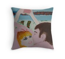 Lovers  – Kylie & John  Lennon Throw Pillow