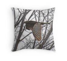 """ Sharp - shinned Hawk "" Throw Pillow"