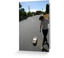 """Surfing Suburbia"" Greeting Card"
