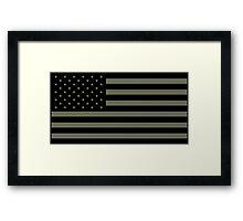 American Flag - Olive Framed Print