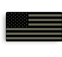American Flag - Olive Canvas Print