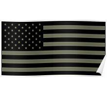 American Flag - Olive Poster