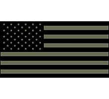 American Flag - Olive Photographic Print