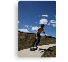 """Surfing Suburbia 2"" Canvas Print"