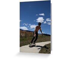 """Surfing Suburbia 2"" Greeting Card"