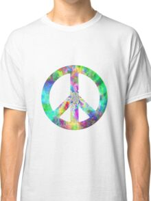 Peace Sign Trippy Hippie Classic T-Shirt