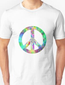 Peace Sign Trippy Hippie T-Shirt