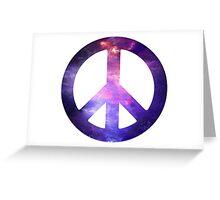 Peace Sign Galaxy Greeting Card