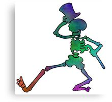 Grateful Dead Dancing Skeleton Trippy Canvas Print