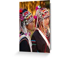 Akha Girls 3 Greeting Card