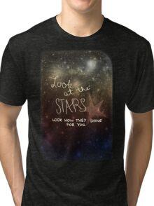 Yellow Coldplay Tri-blend T-Shirt