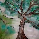 Tree on Rice Paper by coppertrees