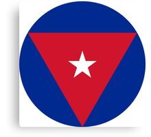 Roundel of the Cuban Air Force  Canvas Print