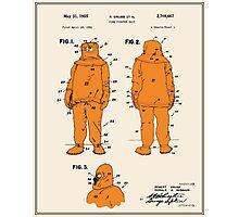 Fire Fighter Suit Patent - Colour Photographic Print