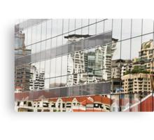 Skyscraper reflections Canvas Print