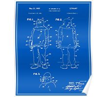 Fire Fighter Suit Patent - Blueprint Poster