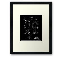 Fire Fighter Suit Patent - Black Framed Print