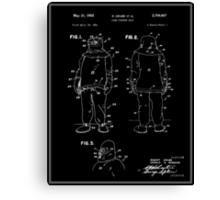 Fire Fighter Suit Patent - Black Canvas Print
