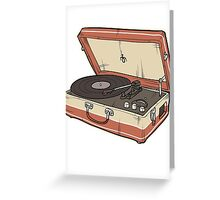 Vintage Record Player Greeting Card