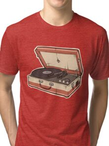 Vintage Record Player Tri-blend T-Shirt