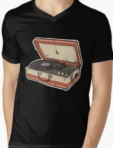 Vintage Record Player Mens V-Neck T-Shirt