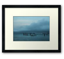 Pilings off the Sausalito Shore Framed Print
