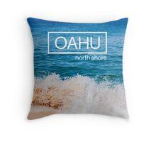 Oahu, Hawaii Beach Throw Pillow