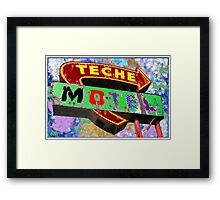 Teche Motel Framed Print