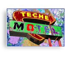 Teche Motel Canvas Print
