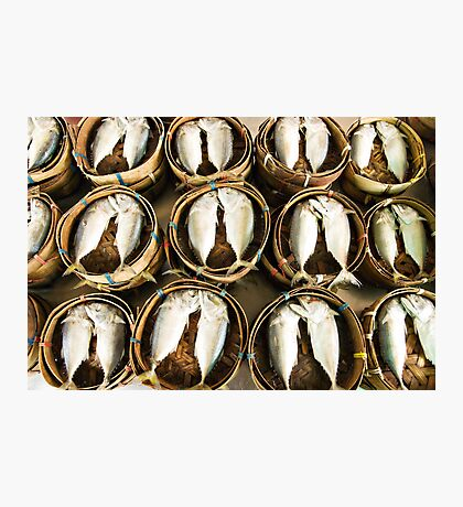 Steamed fish Photographic Print