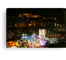 New Year and Christmas in Edinburgh Canvas Print
