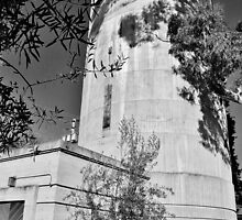 Old Water Tower In Palo Alto by Martha Sherman