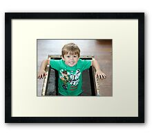 Guess where I've been Framed Print