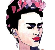 Geometric Frida Kahlo by AnnikaPeterson