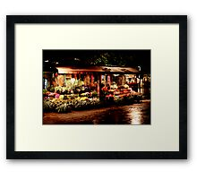 The Flower Cart Framed Print