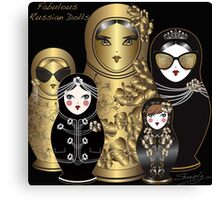 Fabulous Russian Dolls Canvas Print