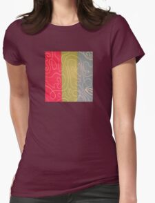 White Lines 1 Womens Fitted T-Shirt