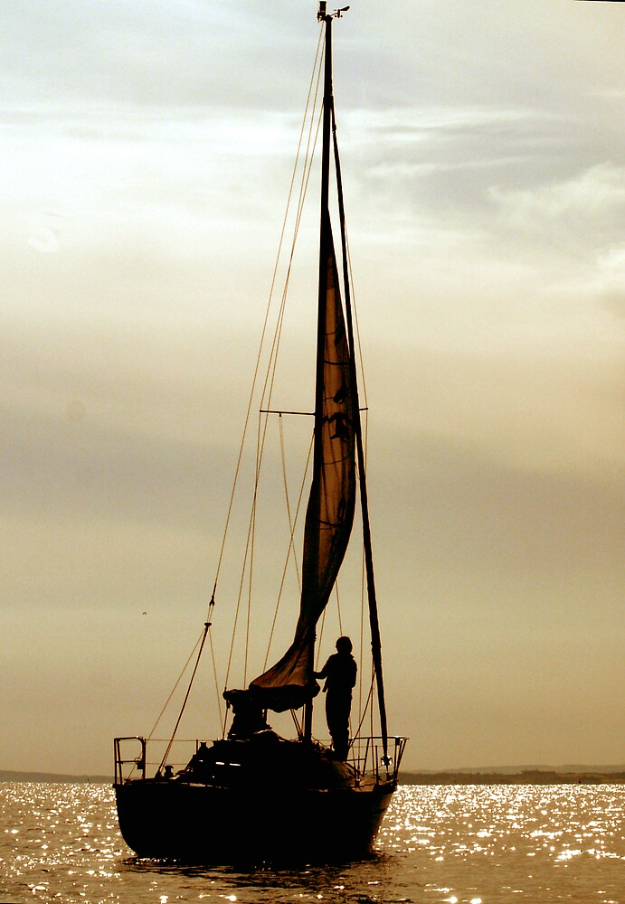 Dusk Solo Sailor by DavidFrench