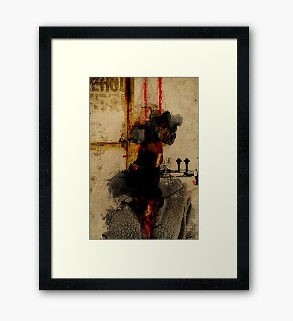 EXAMPLE OF A PORTRAIT OF AN UNKNOW PERSON, FORGOTTEN AFTER DEATH Framed Print