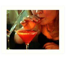 Cosmopolitan Cocktail  Art Print